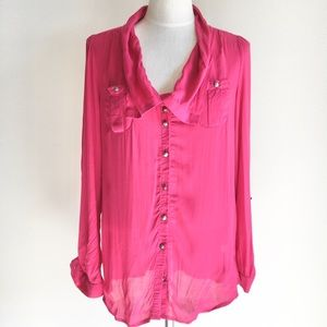 Anthropologie Odille Button Down Top
